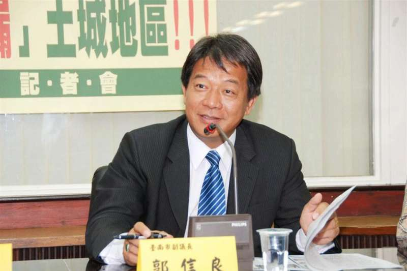 台南市議長郭信良9日上廣播節目,透露台南市議長選舉遭黨內派系干預、從中作梗的人就是台南市長黃偉哲。(資料照,取自郭信良臉書)