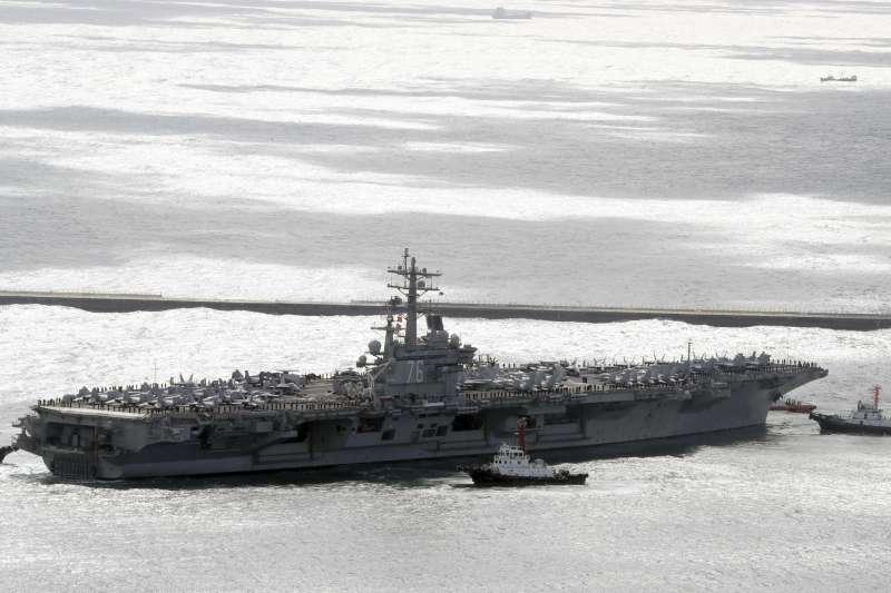 美國海軍航空母艦雷根號(USS Ronald Reagan)(AP)