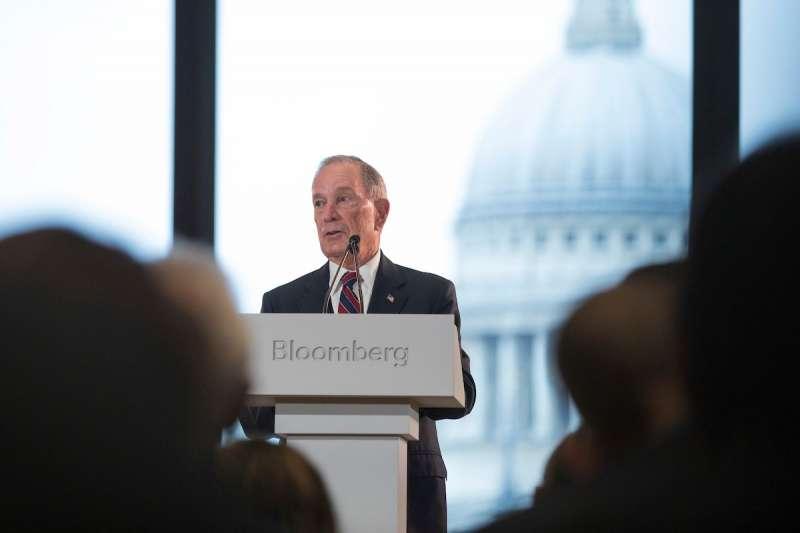 前紐約市長彭博主持倫敦「彭博社」新總部開幕典禮(Mike Bloomberg Twitter)