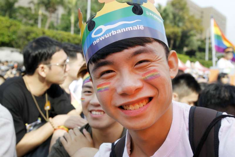 2017年10月28日,台灣同志遊行Taiwan LGBT Pride盛大登場(AP)