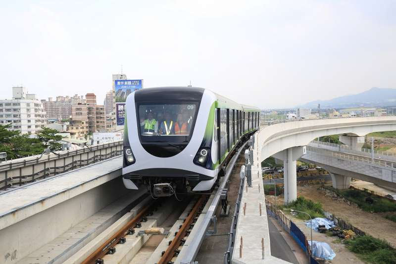 台中市首條輕軌系統捷運綠線,將於明年試運轉。(圖/台中市政府提供)