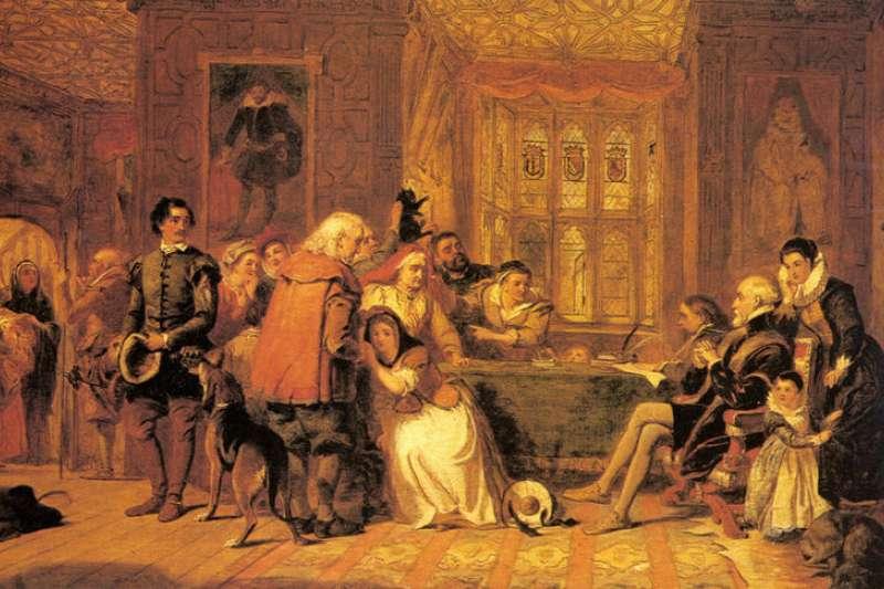英國畫家弗里斯(William Powell Frith)在1848年所繪的《女巫審判》(Wikipedia/Public Domain)