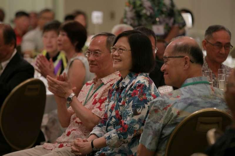 2017-10-30-總統蔡英文出席美國夏威夷檀香山僑界午宴03。(總統府提供)
