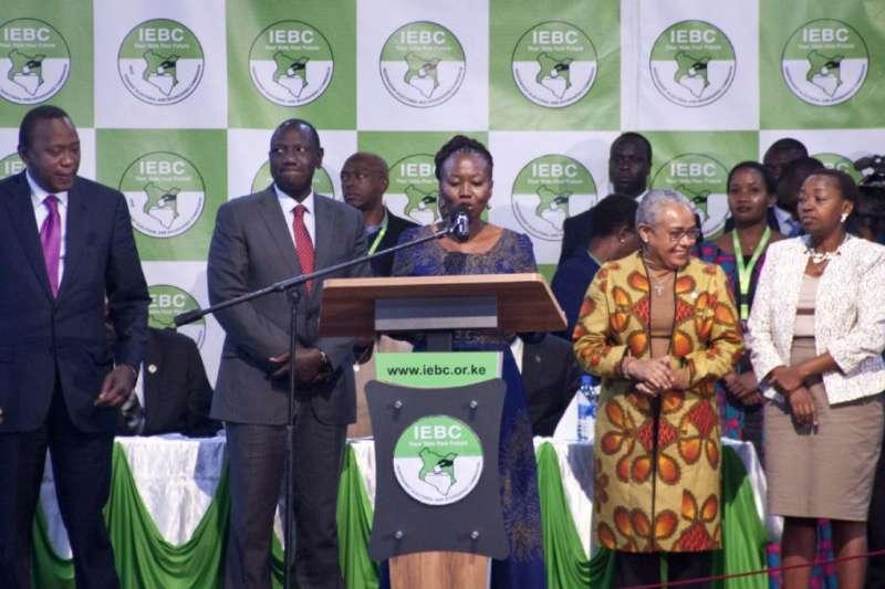 阿科比於IEBC發言(AP)