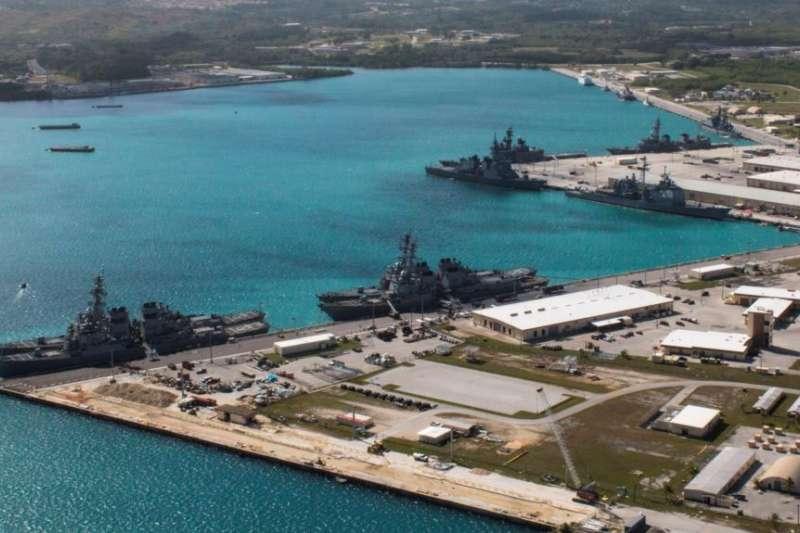 關島美國海軍基地。(美國之音)