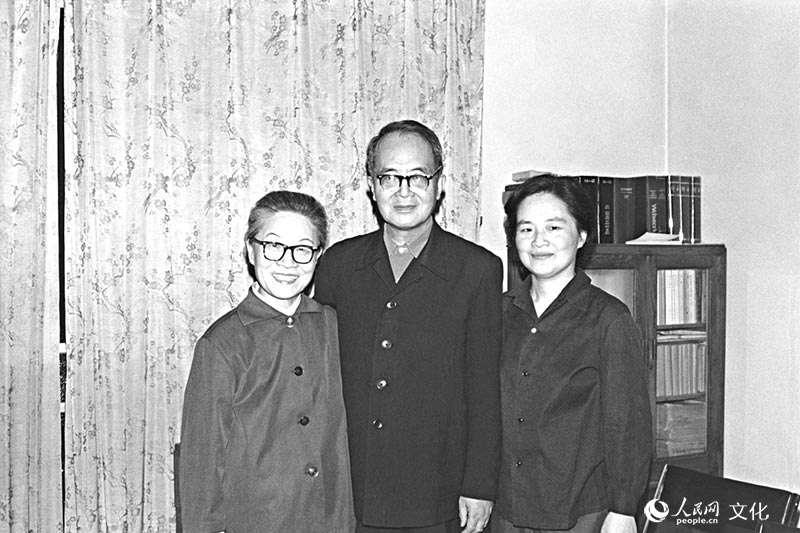 「我們仨」楊絳、錢鍾書與錢瑗。(取自人民網)