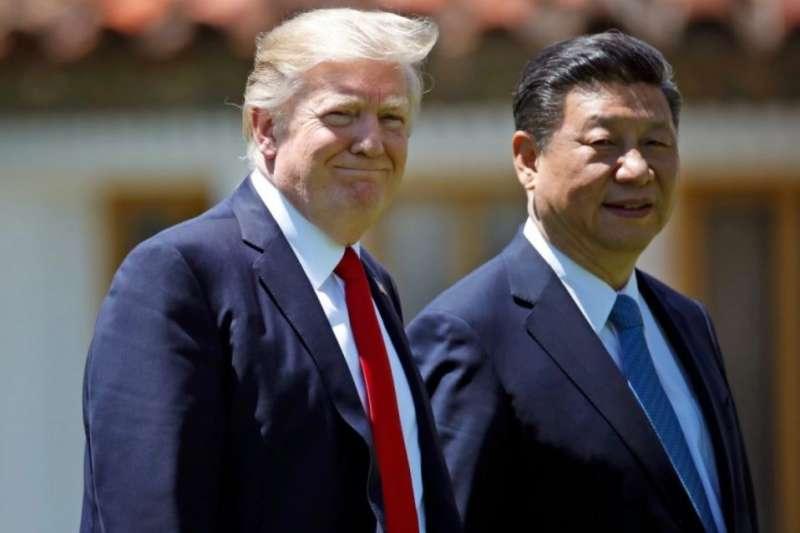美國總統川普與中國國家主席習近平。(美聯社)