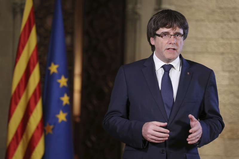 西班牙高等法院3日對加泰隆尼亞自治政府前主席普吉德蒙發出歐盟逮捕令(AP)