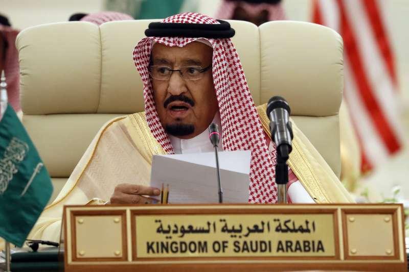 沙烏地阿拉伯國王薩勒曼(King Salman)。(美聯社)。