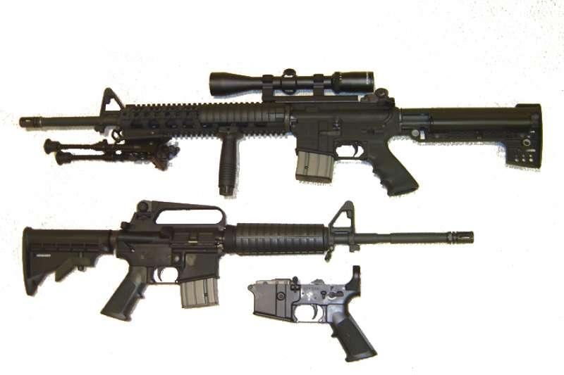 AR-15步槍。(維基百科/公用領域)