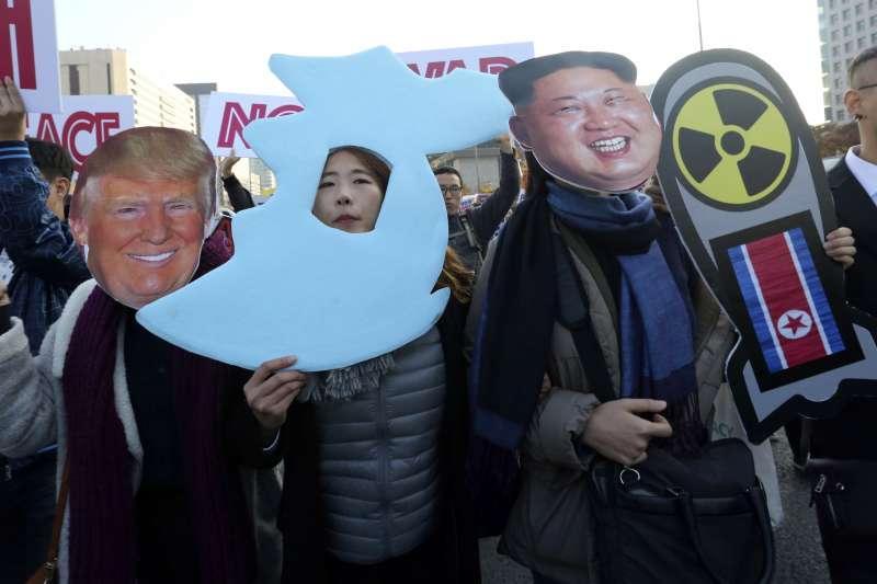 川普亞洲行抵達南韓,下一步前往中國,北韓是否會在此時來個核試爆大禮呢?(美聯社)