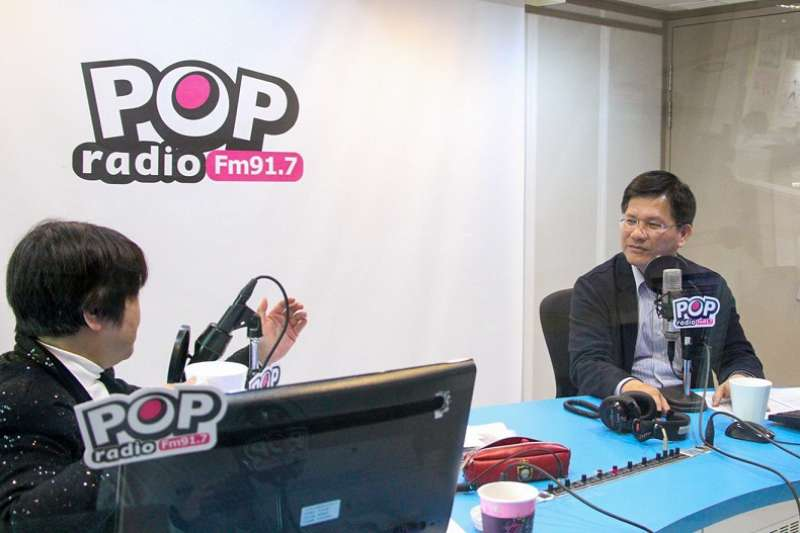 台中市長林佳龍接受專訪暢談理念。(圖∕台中市政府提供)
