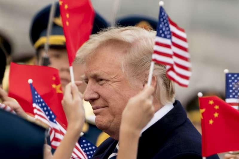 川普在中國。(美聯社)