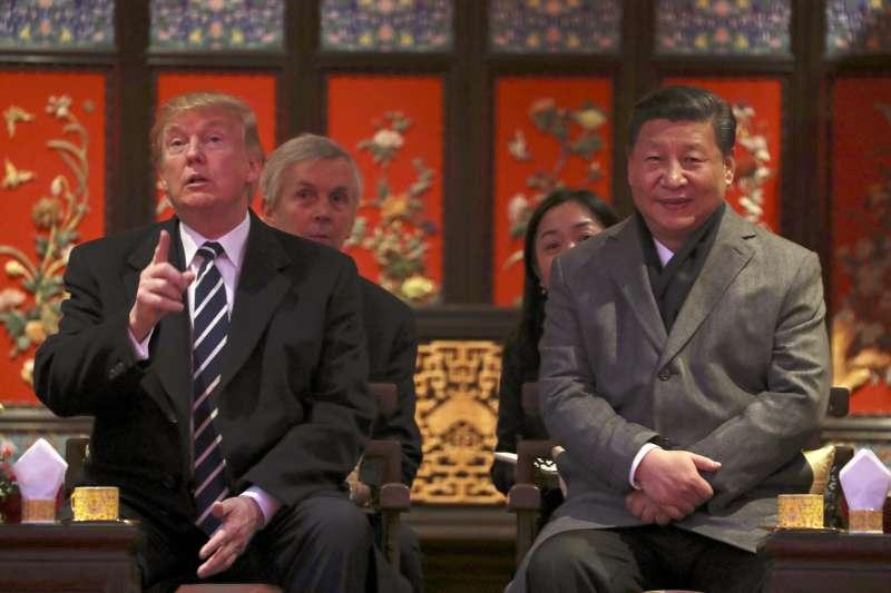 美國總統川普與中國國家主席習近平(AP)