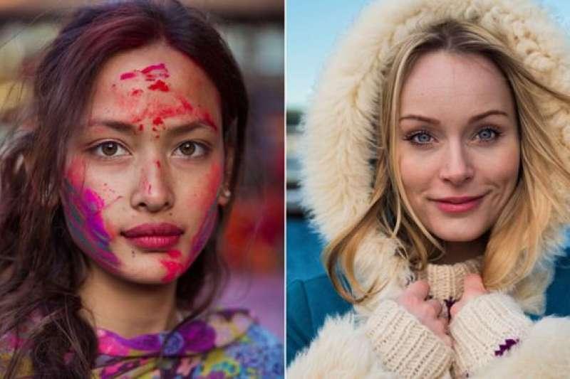 米哈艾拉分別在尼泊爾加德滿都(左)及冰島雷克雅未克拍下這兩張照片。(BBC中文網)