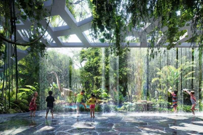 杜拜的建築一個比一個壯觀、驚人,2018即將完工的雨林酒店,又將奢華的層次推高了一級。(圖/Design by ZAS Architects ,Image by Plompmozes)