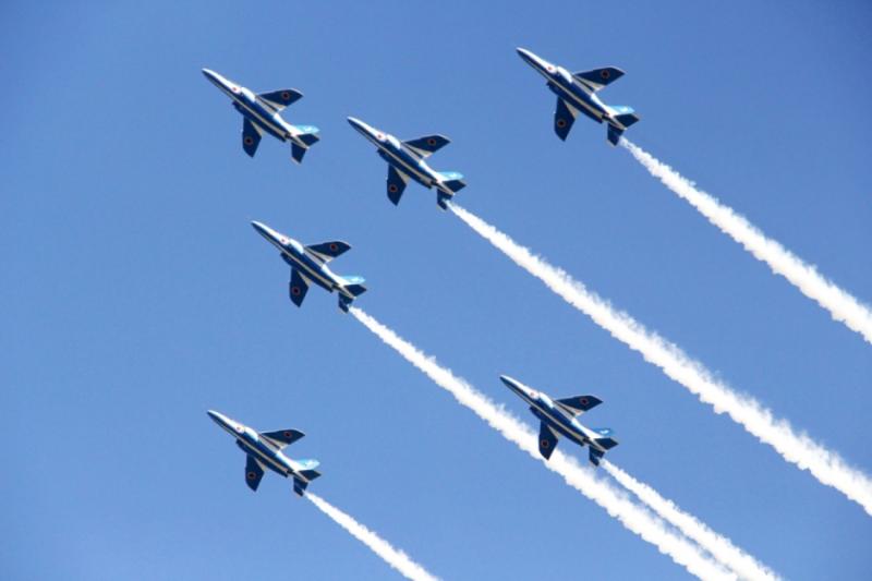 「藍色衝擊」是日本航空自衛隊最知名的飛行表演隊之一。(圖/想想論壇|陳怡秀攝)