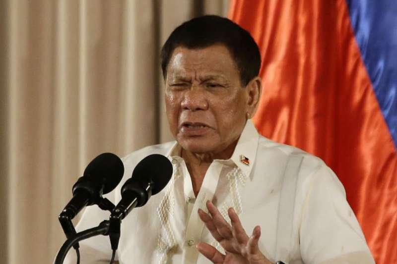 菲律賓總統杜特蒂。(美國之音)