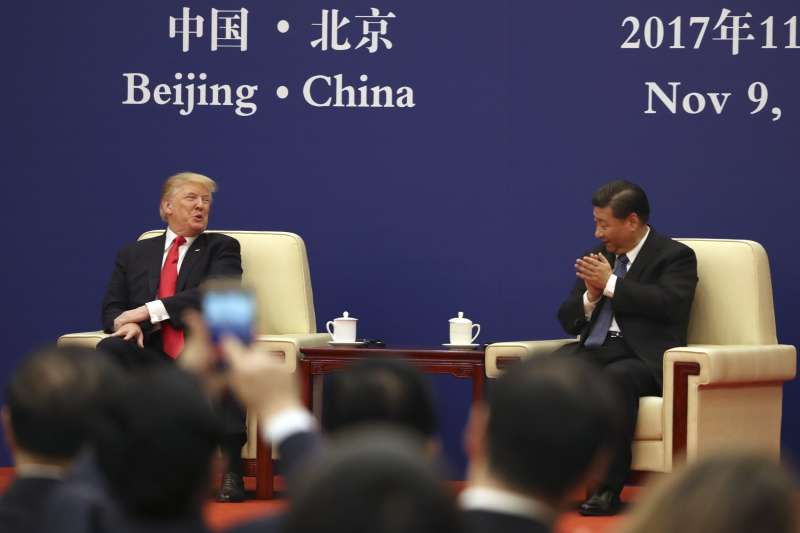 川習會:美國總統川普與中國國家主席習近平(AP)