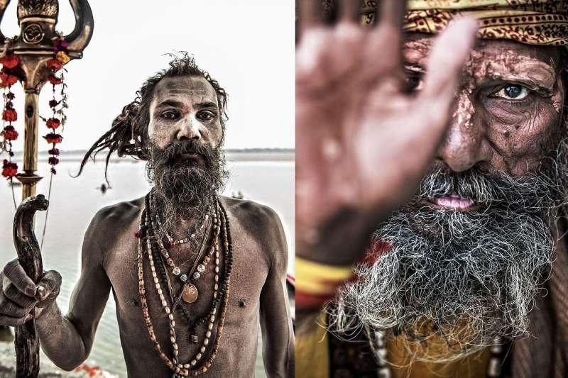 印度的「食屍族」(The Aghori)因信仰造成的生活方式,震撼了全球。(圖/言人文化)