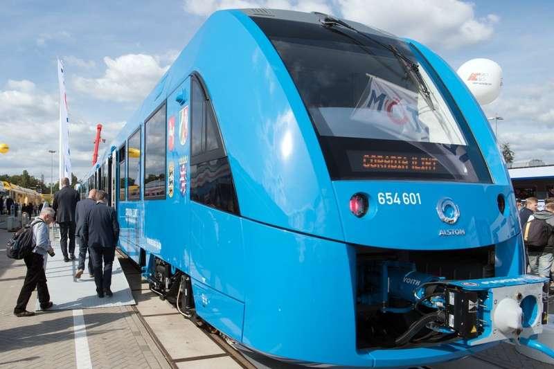 德國下薩克森邦與阿爾斯通簽約,氫鐵預計在2021年時上路。(美聯社)
