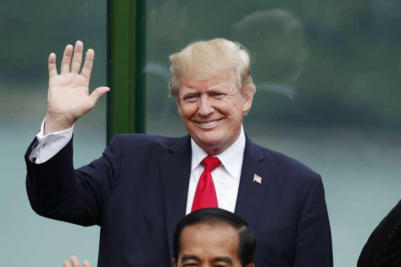 美國總統川普出席在越南峴港舉行的APEC領袖會議(AP)