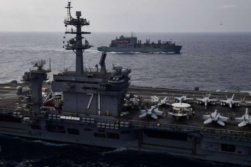 作者說,軍艦來台,若國務院、國安會態度保留,未來實現的可能就很低,事實上,美國政府行政部門允許美國軍艦靠泊台灣的可能實在不高。(資料照,USS Theodore Roosevelt FB)