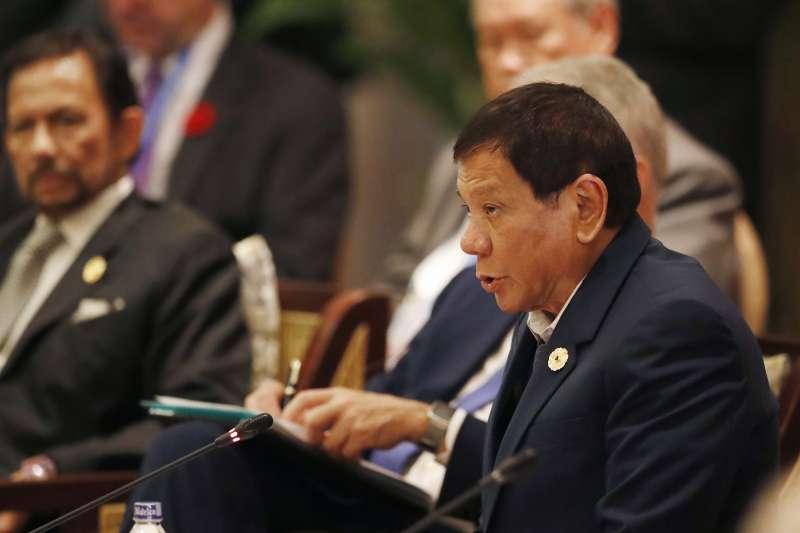 2017年APEC越南峴港峰會,菲律賓總統杜特蒂出席。(美聯社)