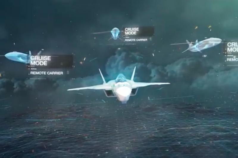 空中巴士釋出的未來戰機影片,強調可指揮無人機協同作戰。(翻攝Youtube)