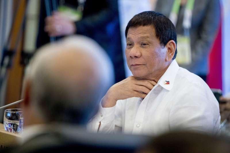 菲律賓總統杜特蒂說「南海最好不要碰,沒有人能承受戰爭爆發」。(美聯社)