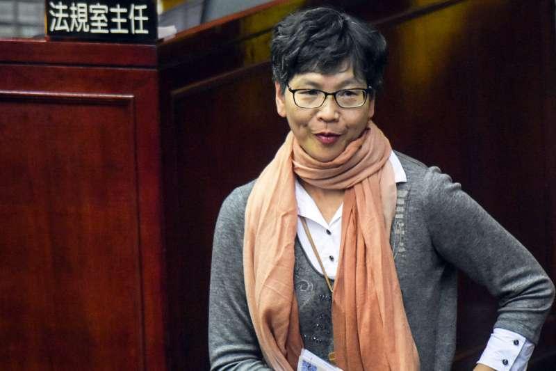 20171113-台北市議會下午進行市政總質詢,圖為市長辦公室主任蔡壁如。(蘇仲泓攝)