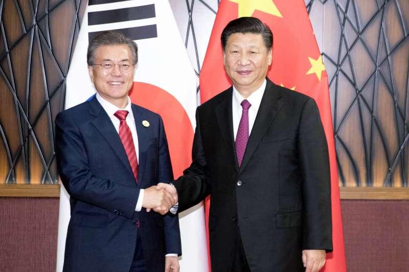 南韓總統文在寅出訪中國。(資料照,美聯社)