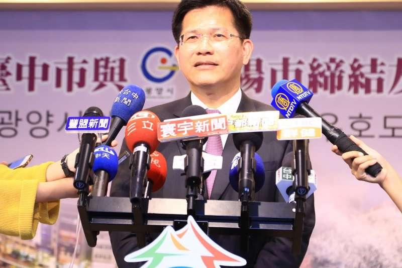 台中市長林佳龍強調,台電要徹底改革空汙防治,更期待全民動起來。(圖/台中市政府提供)