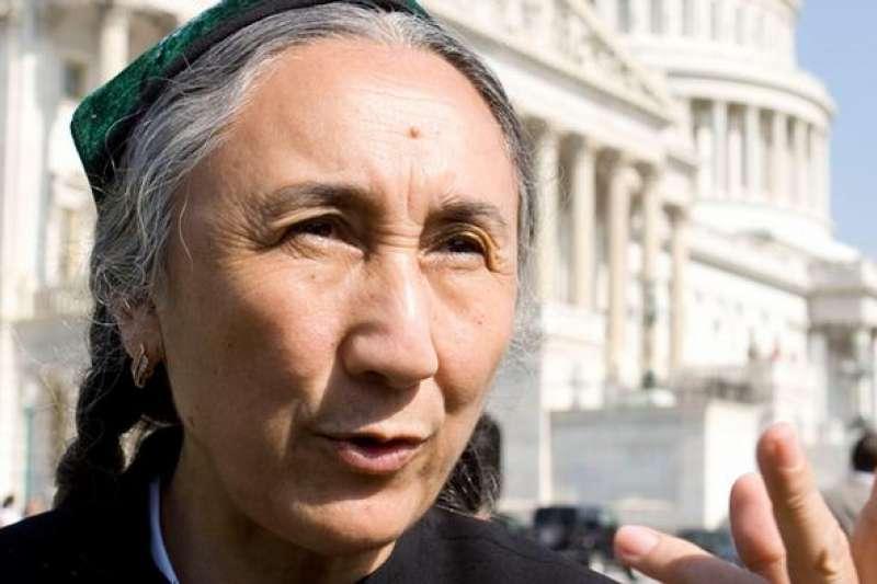 世界維吾爾大會主席熱比婭。(德國之聲)