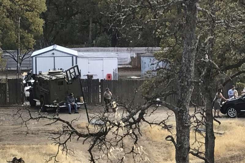 美國加州德哈馬郡一間小學14日發生槍擊案。(美聯社)