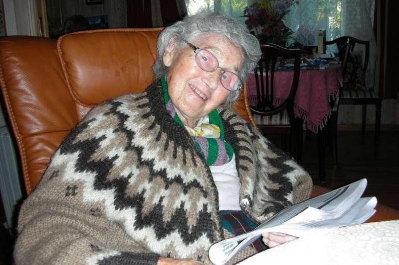 北歐阿嬤紀歐惠醫生晚年退休照片。(圖/想想論壇提供)
