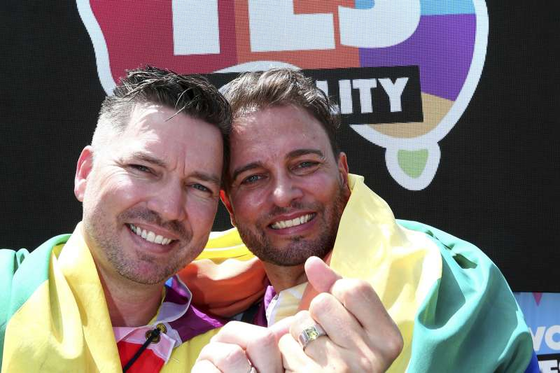 澳洲同性婚姻合法化公投,61%民眾投下贊成。(美聯社)