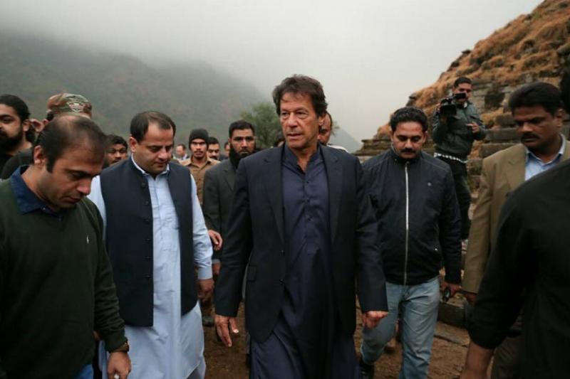 巴基斯坦反對黨「正義運動黨」(Pakistan Tehreek-e-Insaf)現任黨主席汗恩(Imran Khan)。(取自推特)