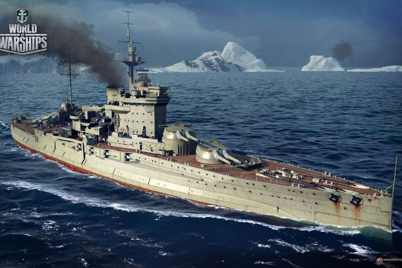 電玩遊戲「戰艦世界(World of Warships)」,最近登上遊戲平台Steam,並把台灣軍艦標註為Taiwan。(取自World of Warships官網)