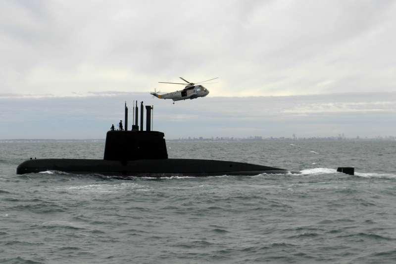 阿根廷柴電潛艇「聖胡安號」失聯,艦上44人生死未卜。(美聯社)