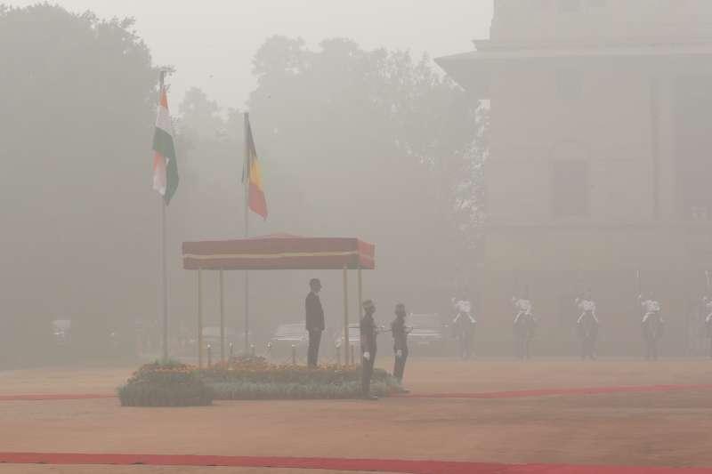 印度空汙情形嚴重。(美聯社)