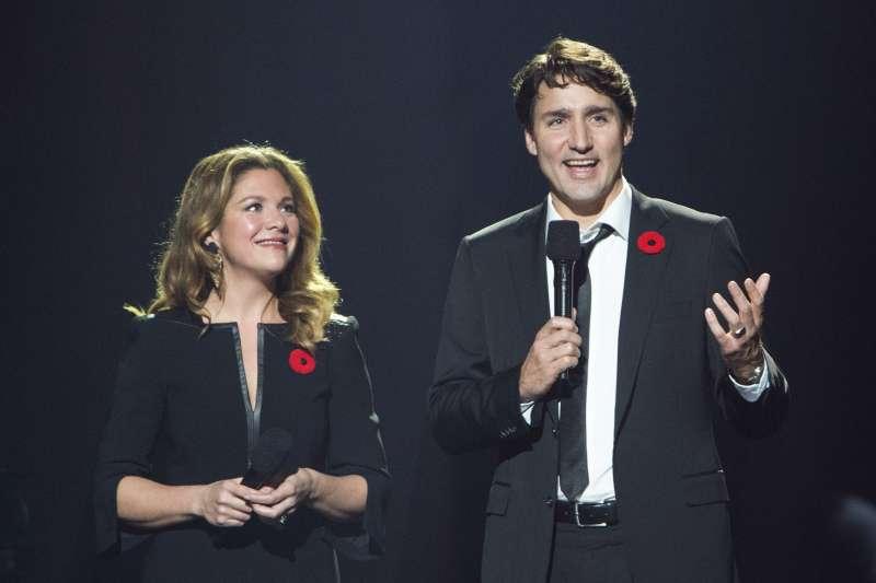 加拿大總理杜魯道與夫人蘇菲(AP)