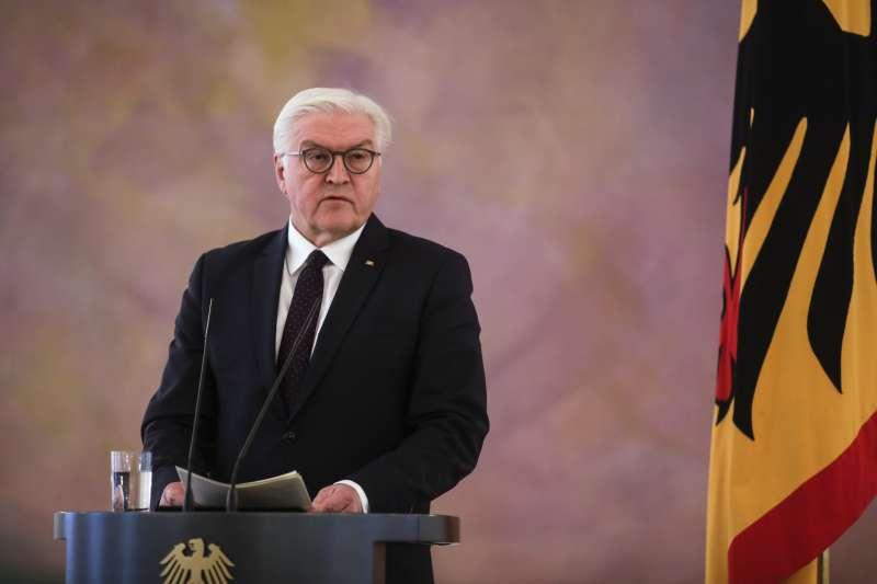 德國總統史坦因邁爾對總理梅克爾閣失敗發表談話(AP)