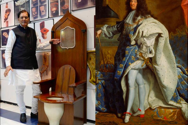 印度的「蘇拉布國際馬桶博物館」展出了太陽王路易十四的王座,竟發現裡面藏有馬桶!(圖/維基百科)