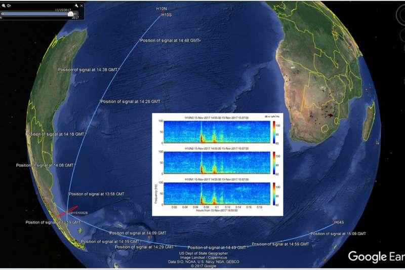 阿根廷軍方23日表示,潛艇失蹤後數小時,在失蹤位置附近出現可疑噪音,之後證實是爆炸聲。(美聯社)