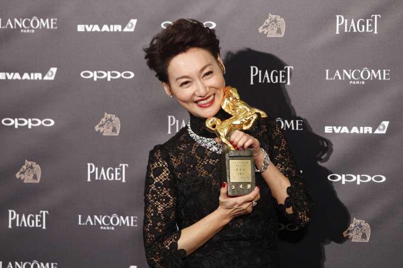 2017年11月25日,第54屆金馬獎頒獎典禮,影后惠英紅(美聯社)