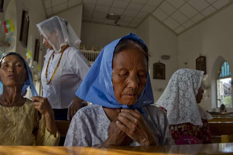 2017年11月,教宗方濟各訪問前夕,緬甸的天主教徒無比期待。(AP)