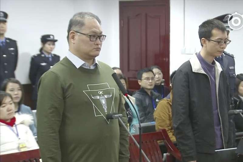 2017年11月28日,台灣NGO工作者李明哲被中國政府以「顛覆國家政權罪」判刑5年(AP)