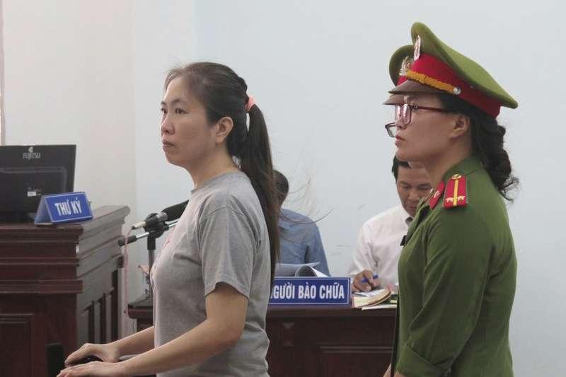 越南知名部落客阮玉如瓊,遭政府以「散播反政府宣傳」罪名,判處10年刑期。(美聯社)
