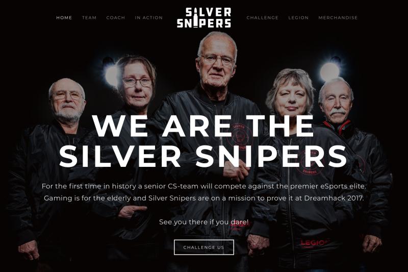 應該是史上平均年齡最高的CS戰隊:銀色狙擊手。